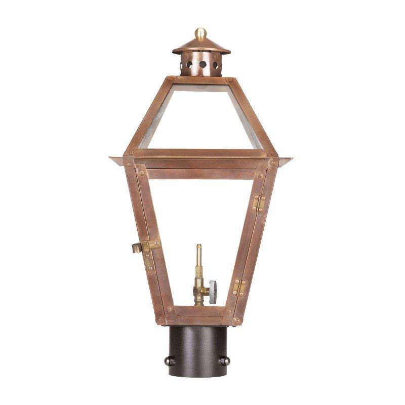 ELK Lighting Grande Isle Outdoor Gas Post Lantern In Aged Copper (7930-WP)