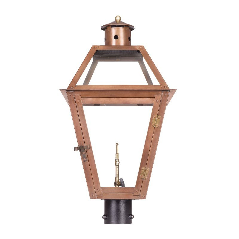 ELK Lighting Grande Isle Outdoor Gas Post Lantern In Aged Copper (7934-WP)