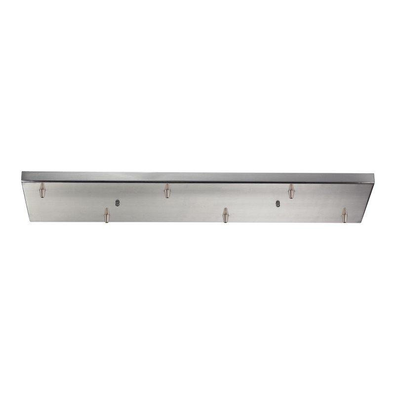 ELK Lighting Illuminaire Accessories 6 Light Rectangular Pan In Satin Nickel (6RC-SN)