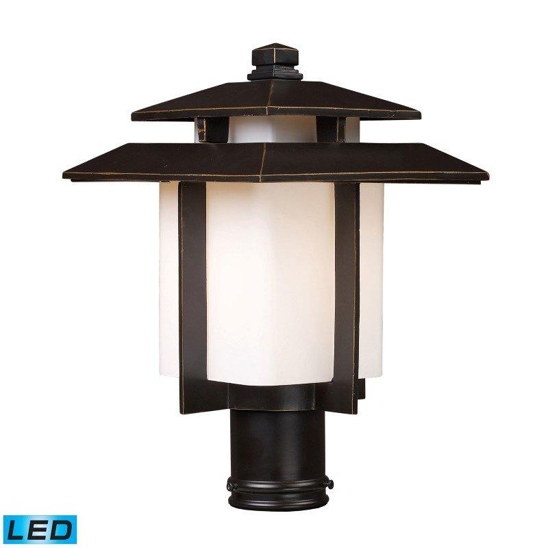ELK Lighting Kanso 1 Light Outdoor LED Pier Mount In Hazlenut Bronze (42173/1-LED)