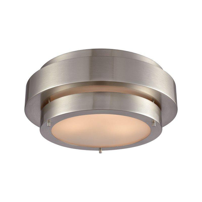 ELK Lighting Layers 3 Light Flush in Satin Nickel (32224/3)