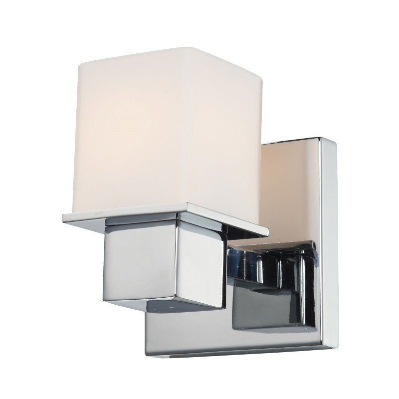 ELK Lighting Lexington 1 Light Vanity In Chrome And White Opal Glass (BV9T1-10-15)