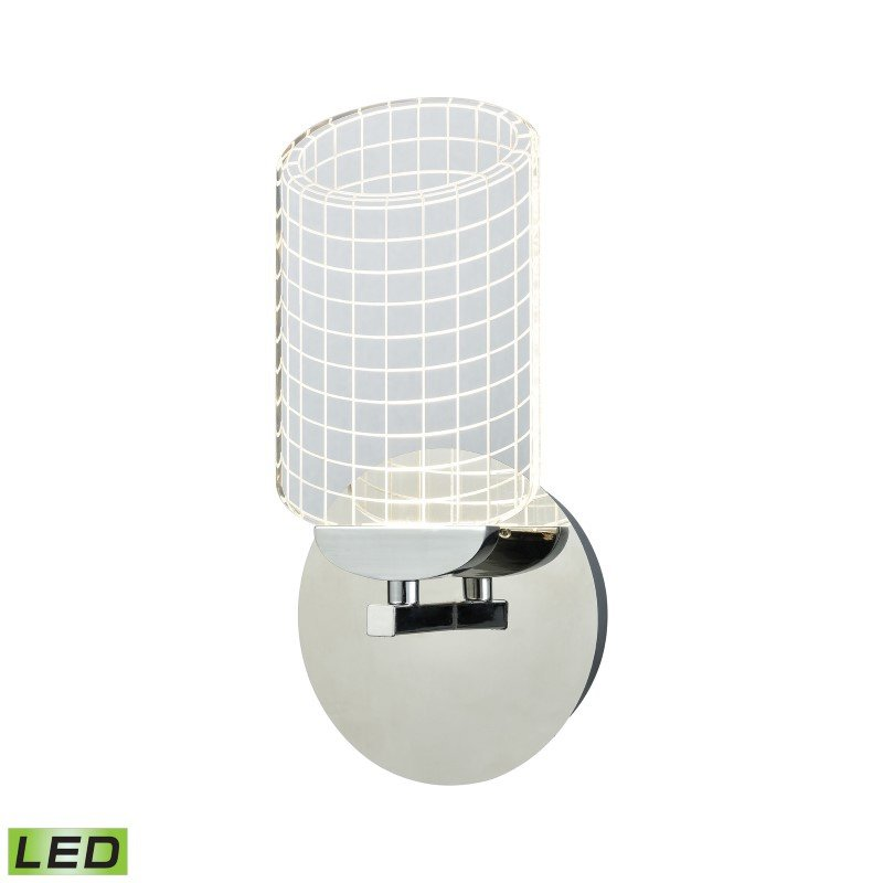ELK Lighting Lightlines LED Wall Sconce in Polished Chrome with Clear Acrylic (54020/LED)