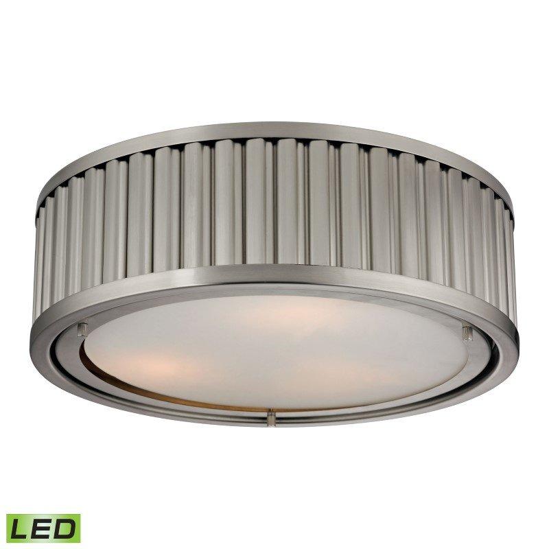 ELK Lighting Linden Manor 3 Light LED Flushmount In Brushed Nickel (46111/3-LED)