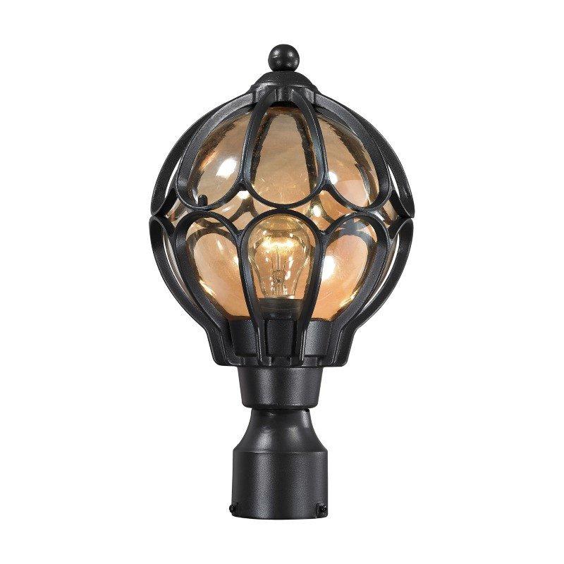 ELK Lighting Madagascar 1 Light Outdoor Post Lantern In Matte Black (87024/1)