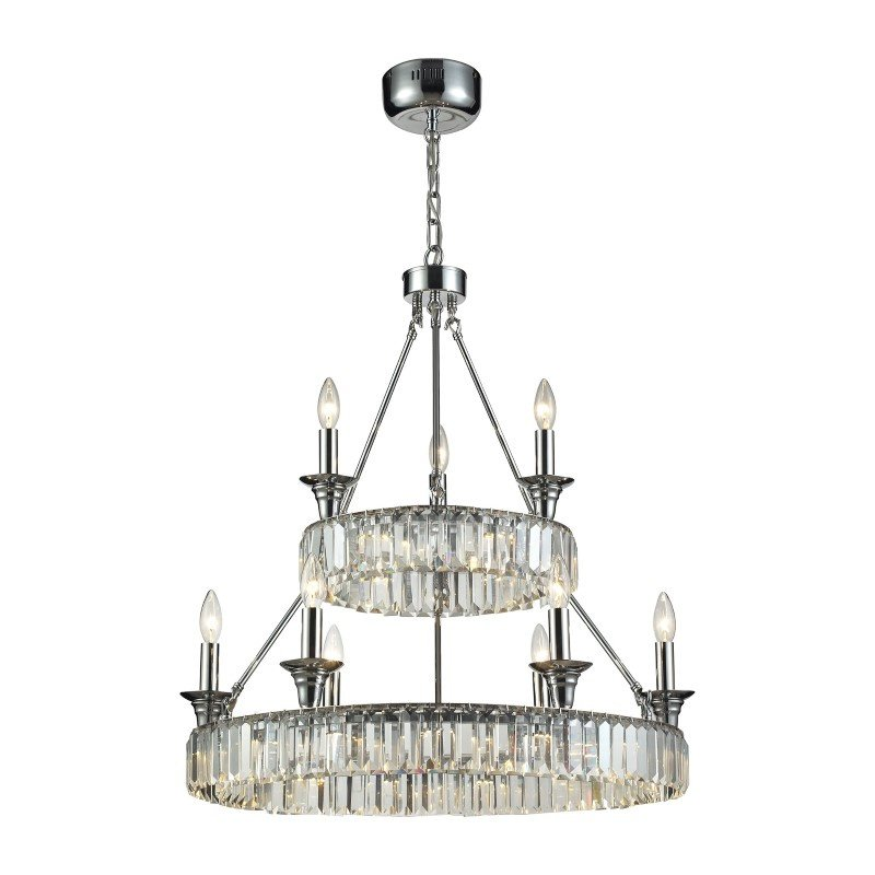 ELK Lighting Manning 29 Light LED Chandelier In Polished Chrome (11806/20+6+3)