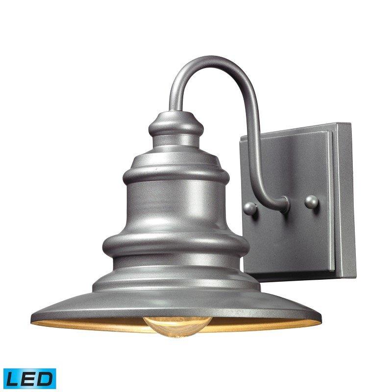 ELK Lighting Marina 1 Light Outdoor LED Sconce In Matte Silver (47020/1-LED)