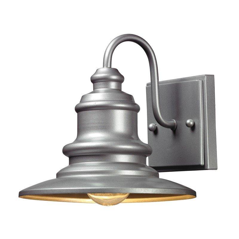 ELK Lighting Marina 1 Light Outdoor Sconce In Matte Silver (47020/1)