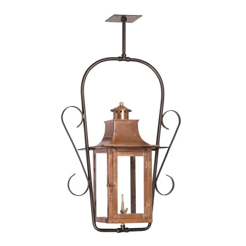ELK Lighting Maryville Outdoor Gas Ceiling Lantern In Aged Copper (7916-WP)