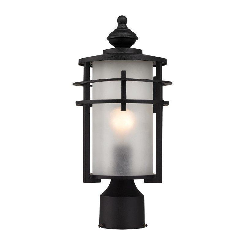 ELK Lighting Meadowview 1 Light Outdoor Post Lantern In Matte Black (46252/1)