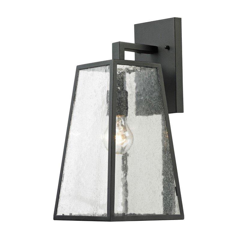 ELK Lighting Meditterano 1 Light Outdoor Sconce In Textured Matte Black (45091/1)