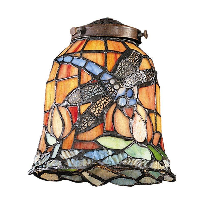 ELK Lighting Mix-N-Match 1 Light Tiffany Dragonfly Glass Shade (999-12)