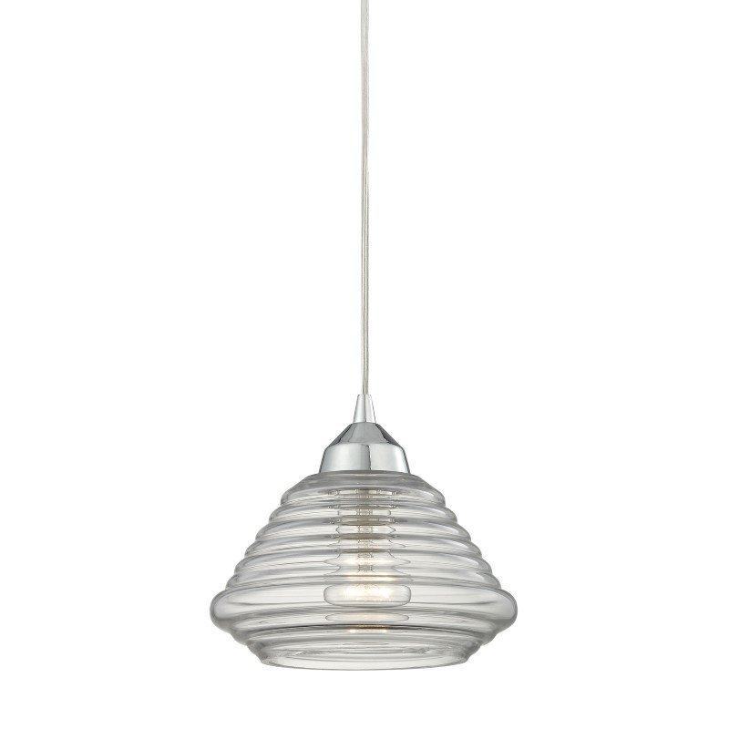 ELK Lighting Orbital 1 Light Pendant In Polished Chrome And Clear Glass (10424/1)