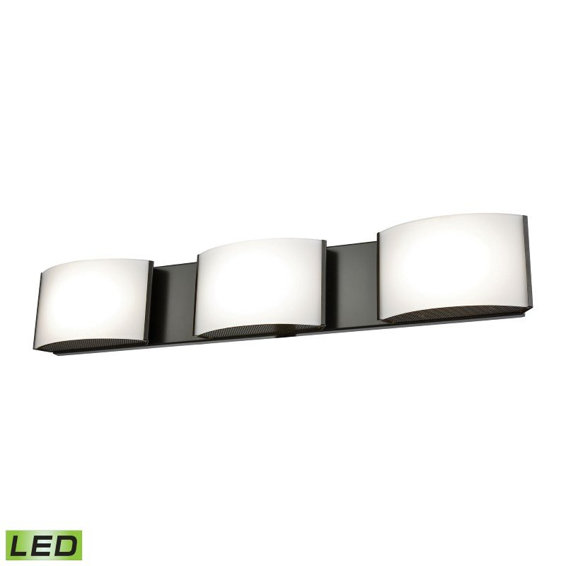 ELK Lighting Pandora LED 3 Light LED Vanity In Oiled Bronze And Opal Glass (BVL913-10-45)