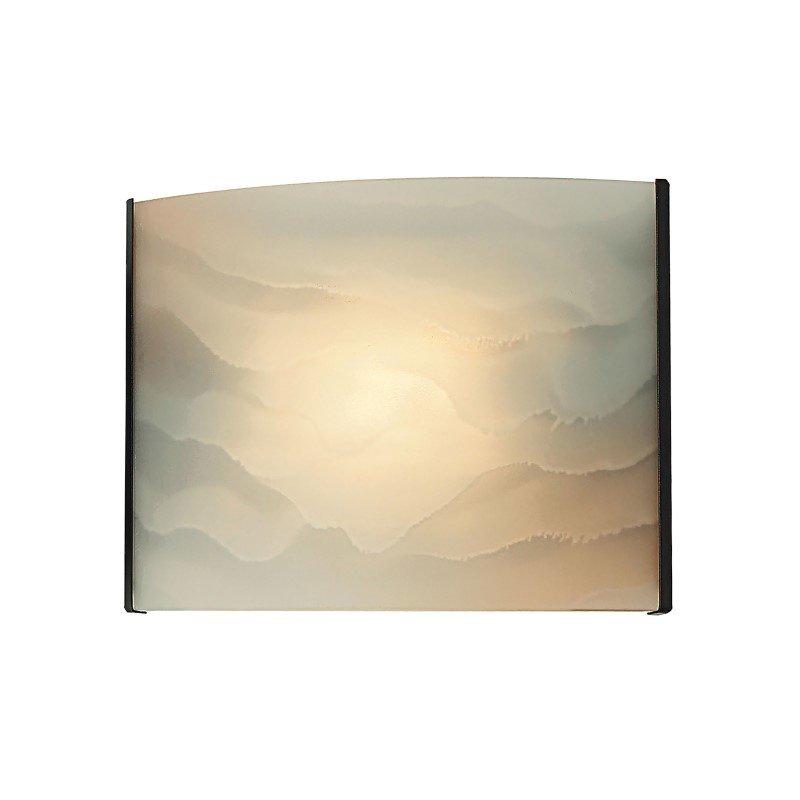 ELK Lighting Pannelli 1 Light Vanity In Oil Rubbed Bronze And Hand-Moulded Honey Alabaster Glass (BV711-HM-45)