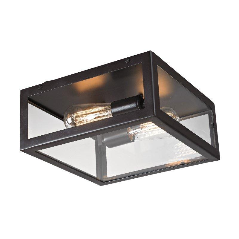 ELK Lighting Parameters 2 Light Flushmount In Oiled Bronze (63021-2)