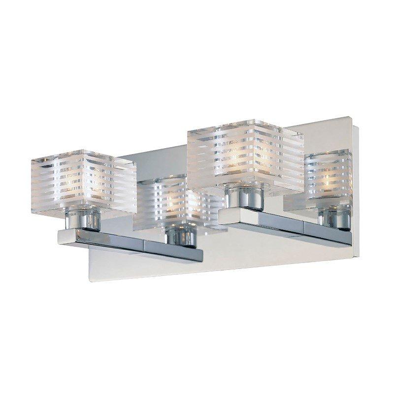 ELK Lighting Quatra 2 Light Vanity In Chrome And Clear Glass (BV312-90-15)