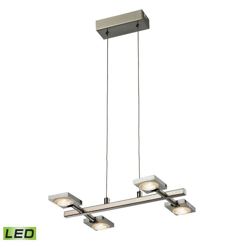 ELK Lighting Reilly 4 Light Chandelier In Brushed Nickel And Brushed Aluminum (54016/4)