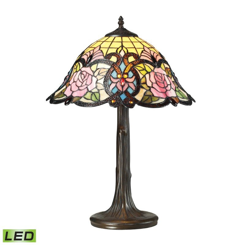 ELK Lighting Rosedale 1 Light LED Table Lamp in Dark Bronze (72081-1-LED)