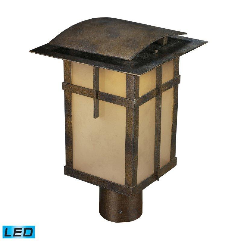 ELK Lighting San Fernando 1 Light Outdoor LED Post Light In Hazelnut Bronze - Title 24 Compliant (64013-1)