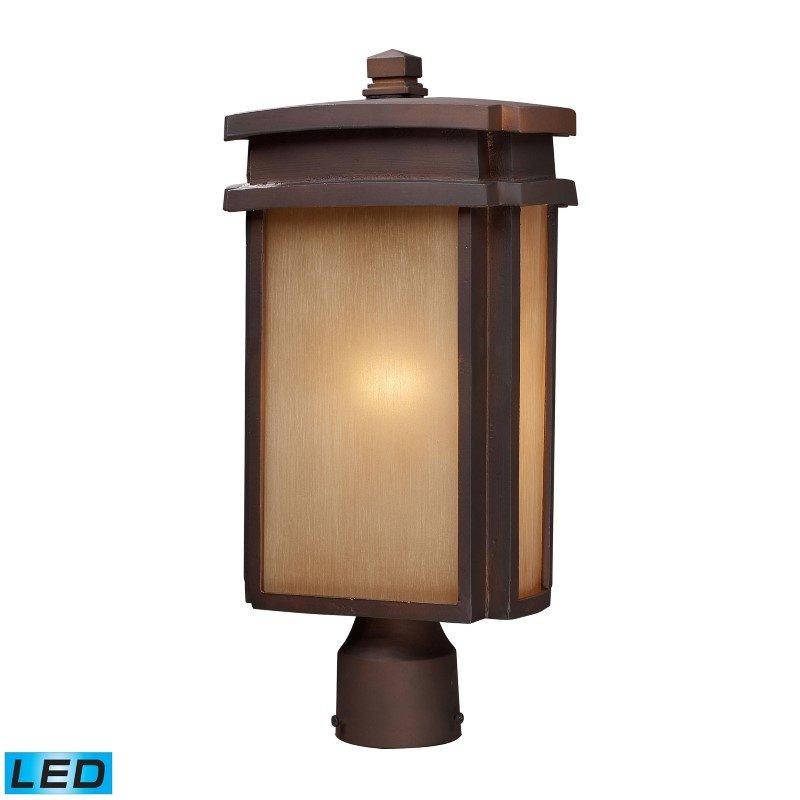 ELK Lighting Sedona 1 Light Outdoor LED Pier Mount In Clay Bronze (42145/1-LED)