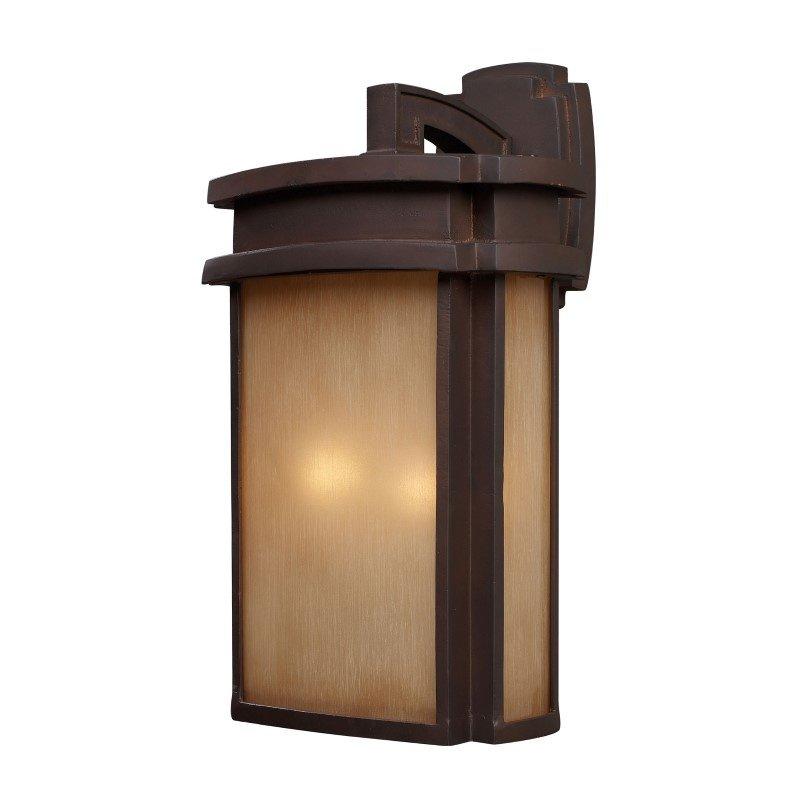ELK Lighting Sedona 2 Light Outdoor Wall Sconce In Clay Bronze (42142/2)