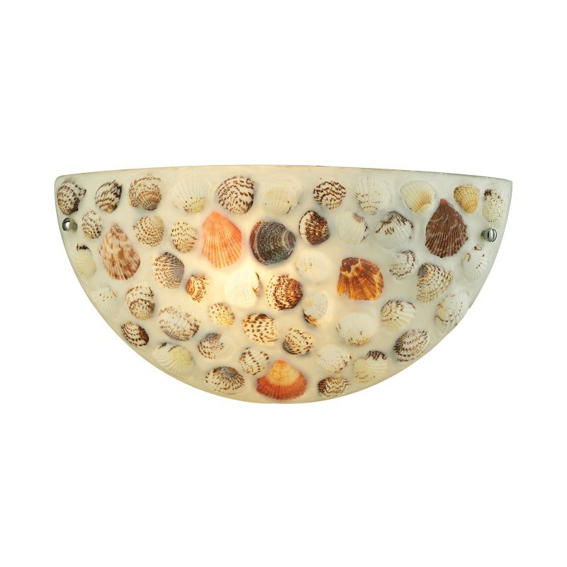 ELK Lighting Shells 1 Light Wall Sconce In Polished Chrome (10380/1)