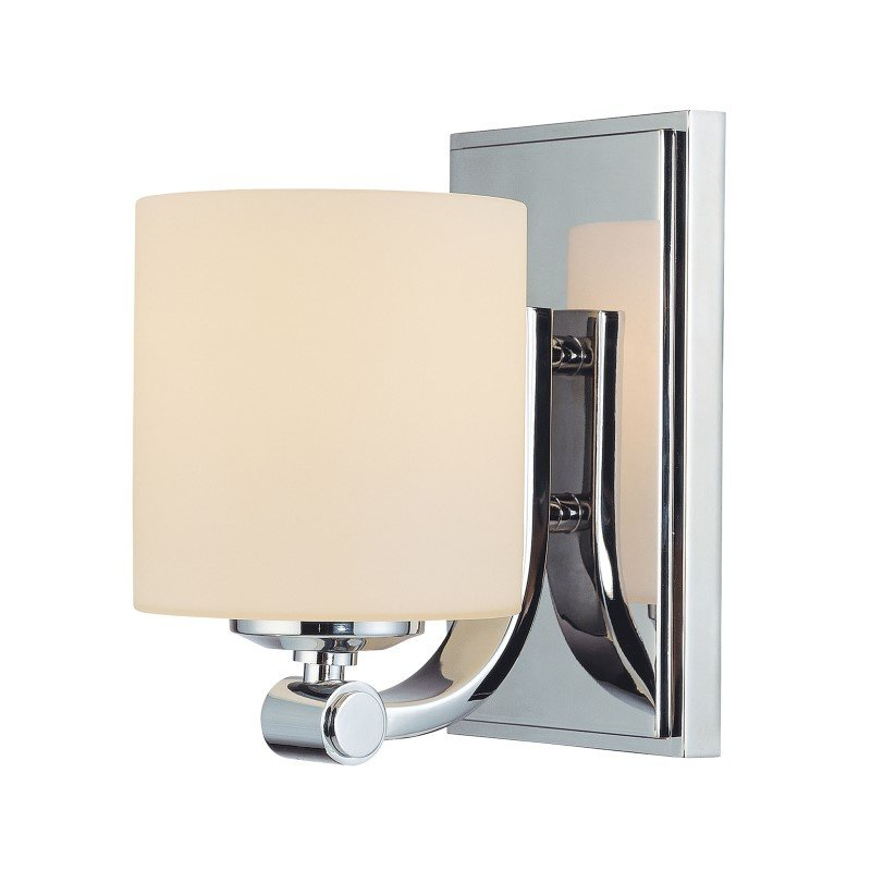 ELK Lighting Slide 1 Light Vanity In Chrome And White Opal Glass (BV851-10-15)