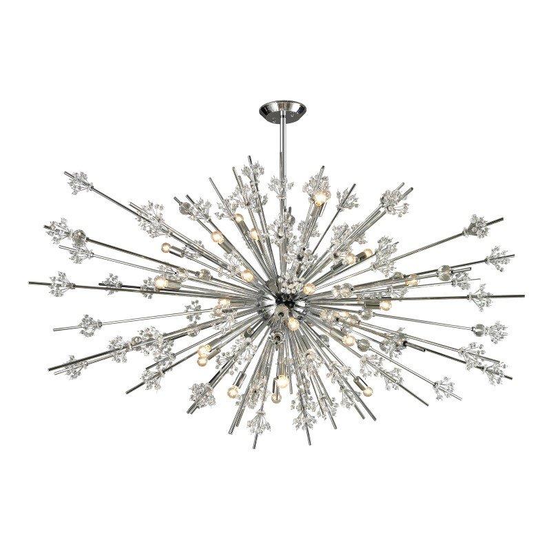 ELK Lighting Starburst 31 Light Chandelier In Polished Chrome (11754/31)