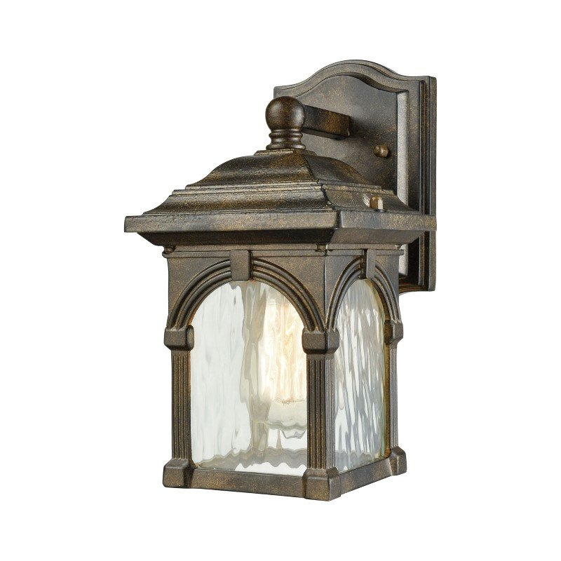 ELK Lighting Stradelli 1 Light Outdoor Wall Sconce in Hazelnut Bronze with Clear Water Glass (45300/1)