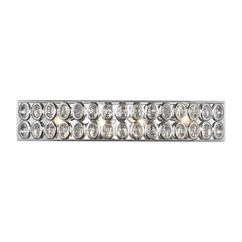 ELK Lighting Tessa 4 Light Vanity in Polished Chrome with Clear Crystal (81152/4)