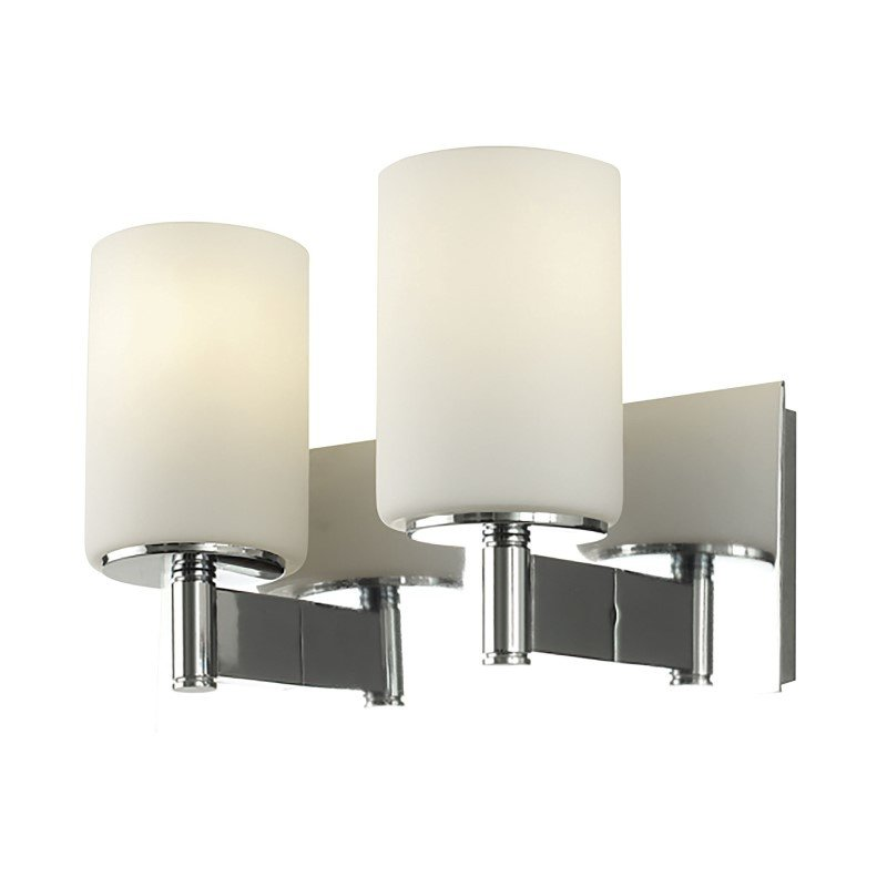 ELK Lighting Truss 2 Light Vanity In Chrome And White Opal Glass (BV7002-10-15)