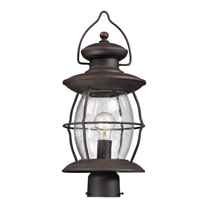 ELK Lighting Village Lantern 1 Light Outdoor Post Light In Weathered Charcoal (47041/1)
