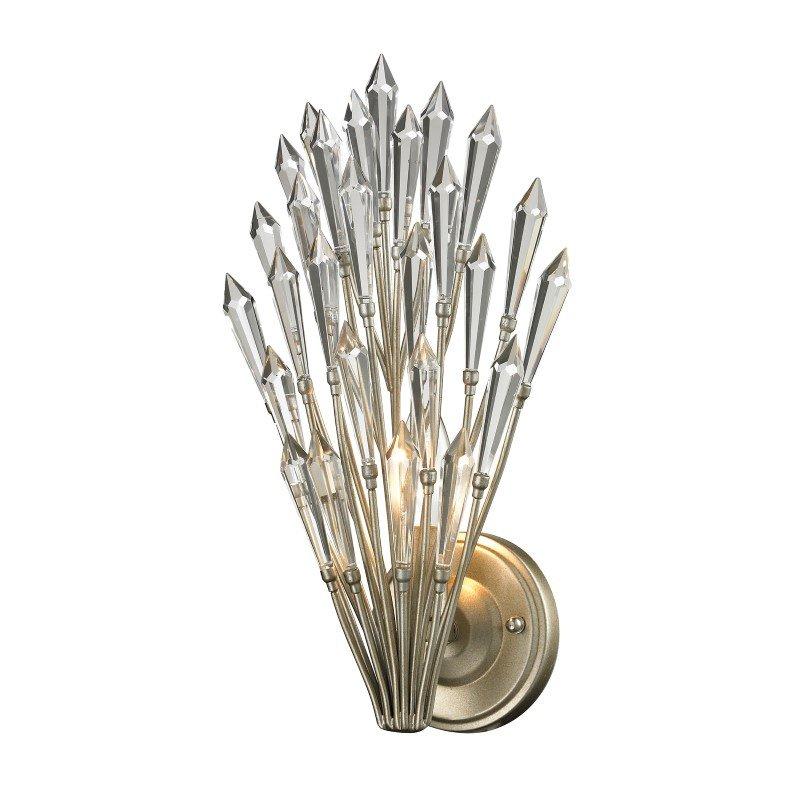 ELK Lighting Viva Natura 1 Light Wall Sconce In Aged Silver (31430/1)