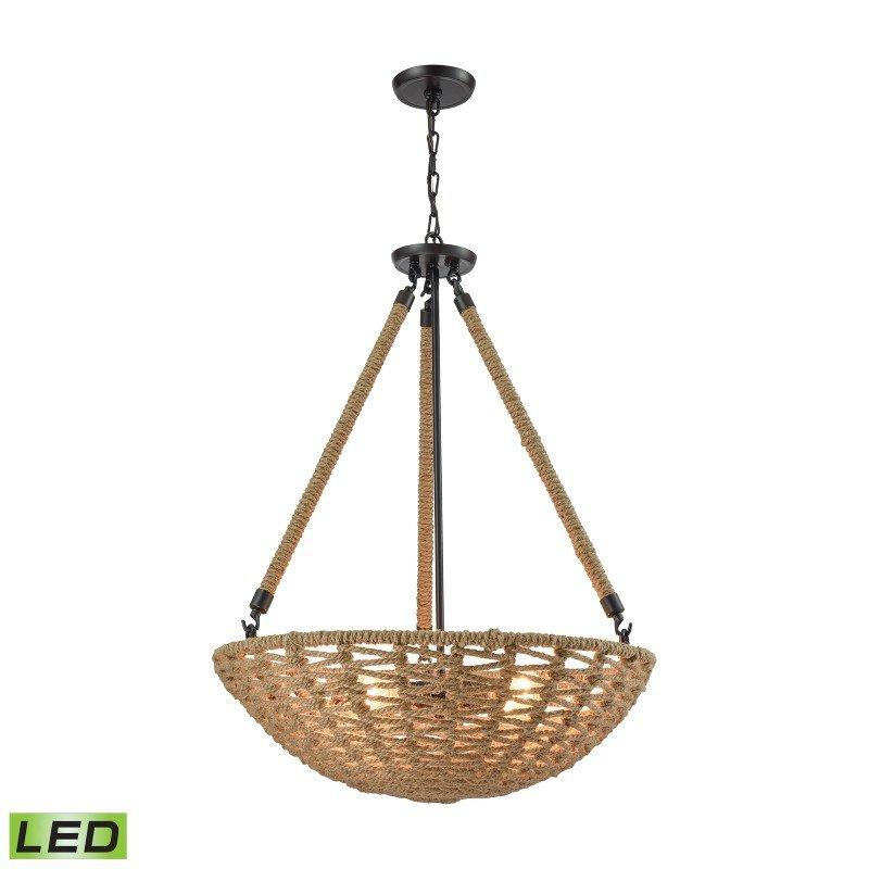 ELK Lighting Weaverton 4 Light LED Chandelier In Oil Rubbed Bronze (10712/4-LED)