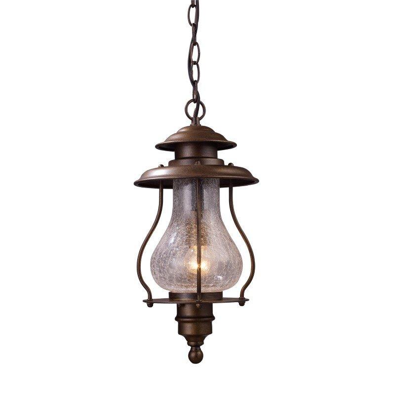 ELK Lighting Wickshire 1 Light Outdoor Pendant In Coffee Bronze (62006-1)
