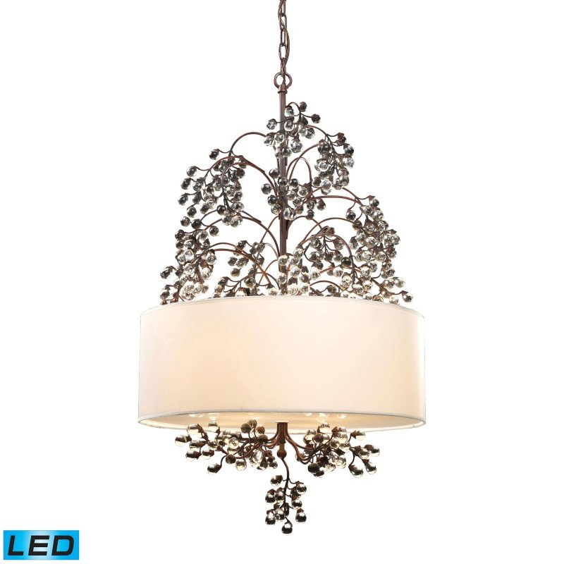 ELK Lighting Winterberry 4 Light LED Chandelier In Antique Darkwood (20059/4-LED)