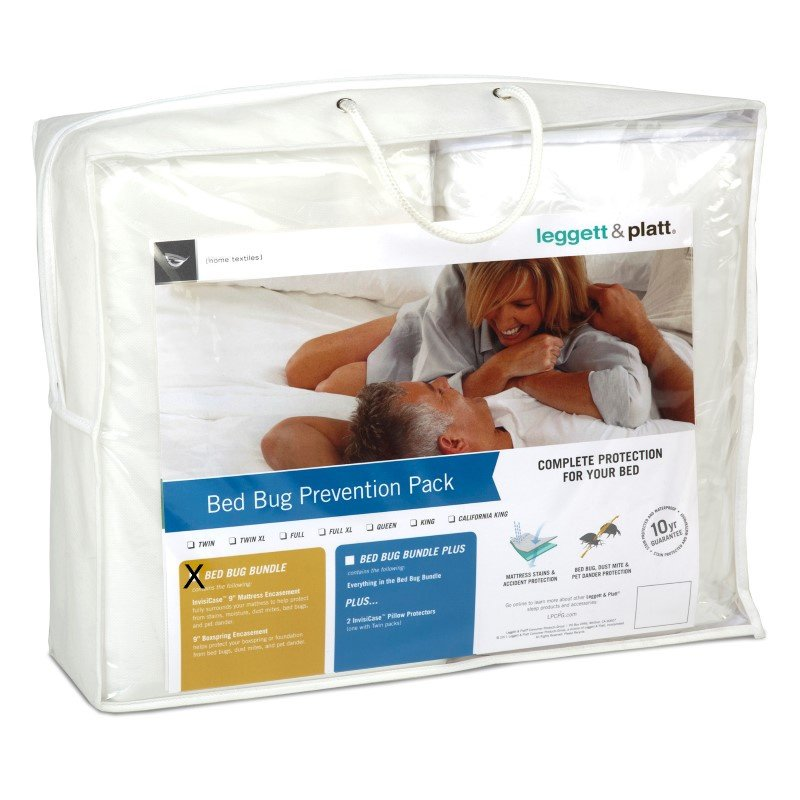 Fashion Bed Group 2-Piece Bed Bug Prevention Pack with InvisiCase 9-Inch Mattress and Box Spring Encasement Bundle - Queen