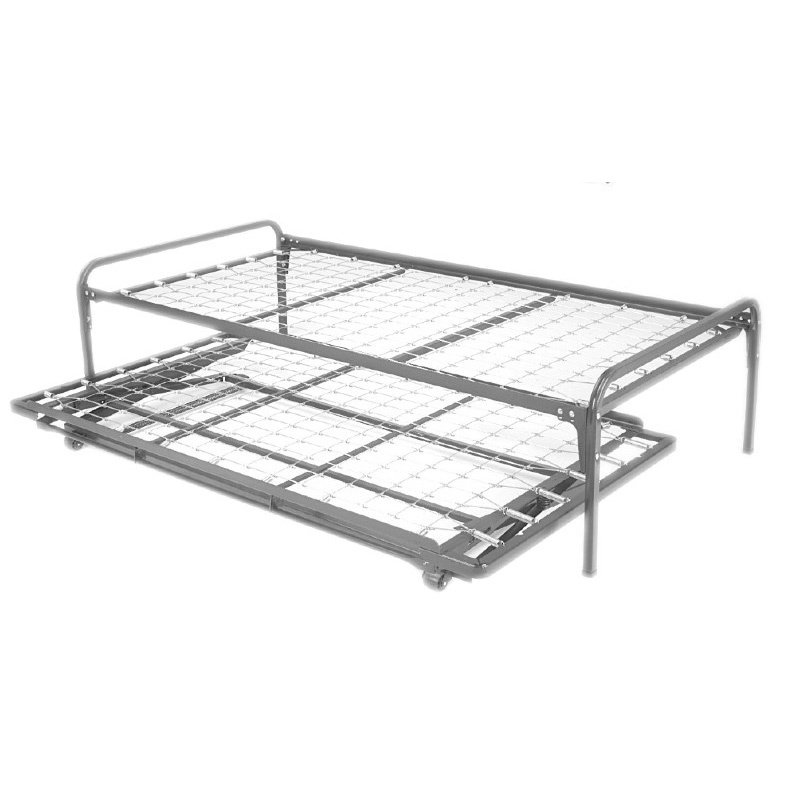 Fashion Bed Group 39-Inch Link Spring 48/351/66 Free Standing Top Spring with (2) Square Tubular Arms and Pop-Up Trundle