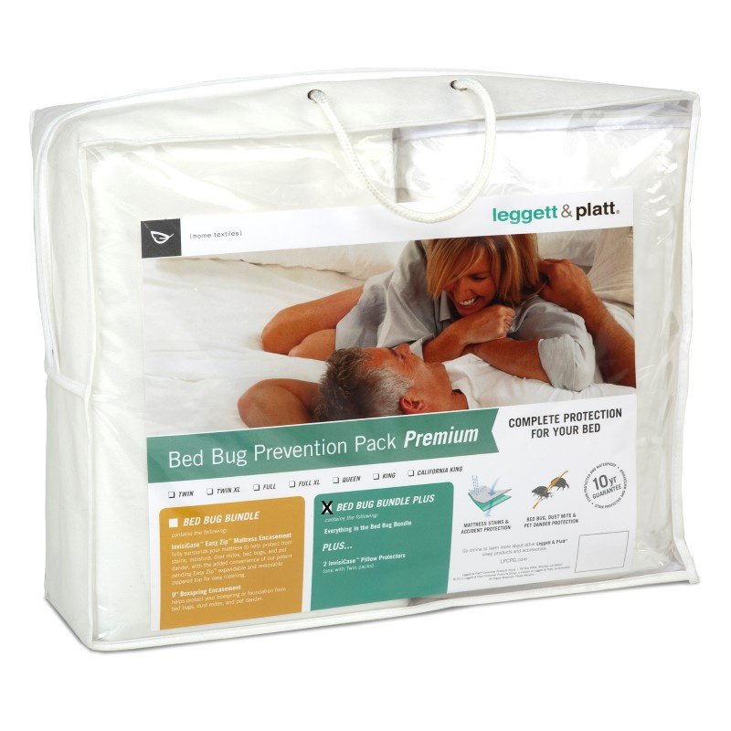 Fashion Bed Group 4-Piece Premium Bed Bug Prevention Pack Plus with InvisiCase Pillow Protectors and Easy Zip Bed Encasement Bundle - Queen