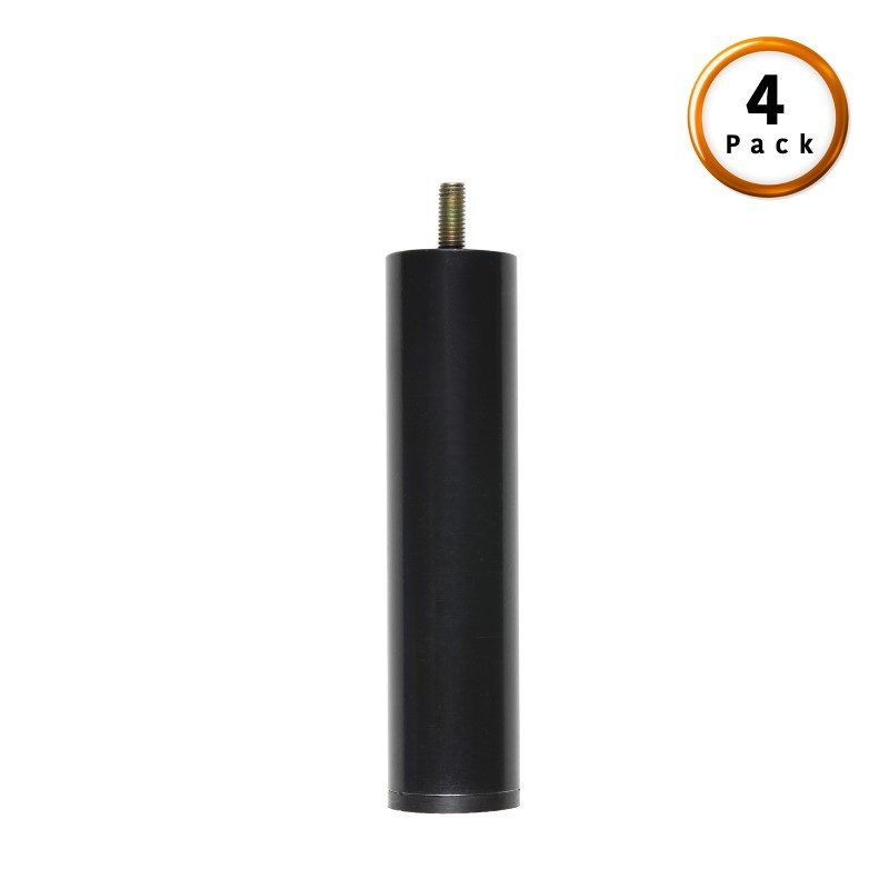 """Fashion Bed Group 5"""" Metric Thread Black Cylinder Legs - 4-Pack"""