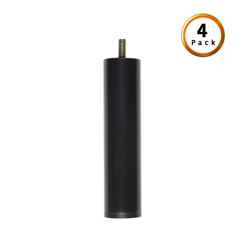 """Fashion Bed Group 7"""" Metric Thread Black Cylinder Legs - 4-Pack"""