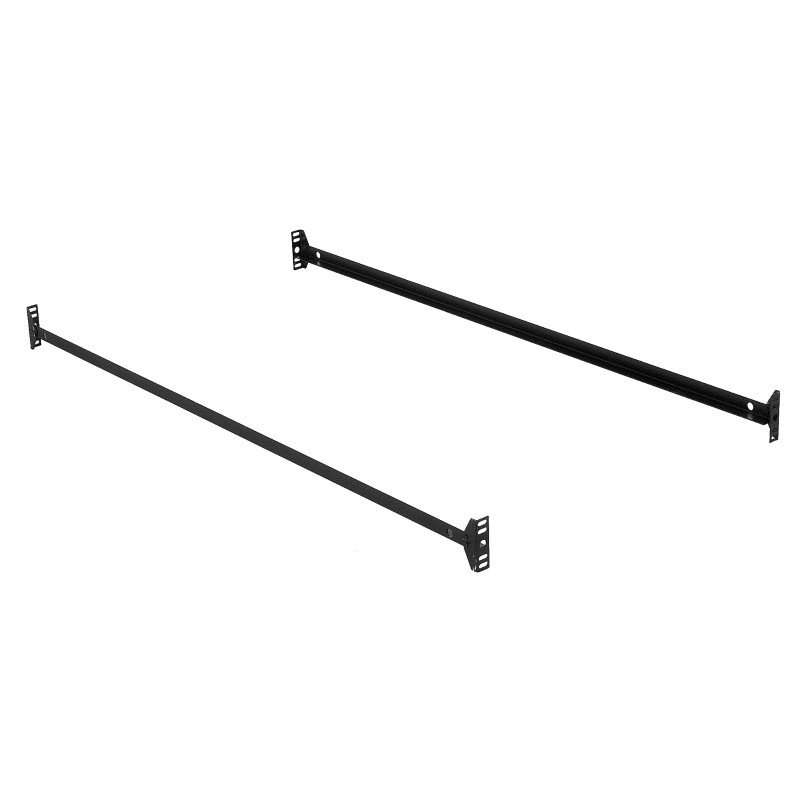 Fashion Bed Group 75-Inch 145B Black Bed Frame Side Rails with Bolt-On Brackets for Headboards and Footboards - Twin/Full