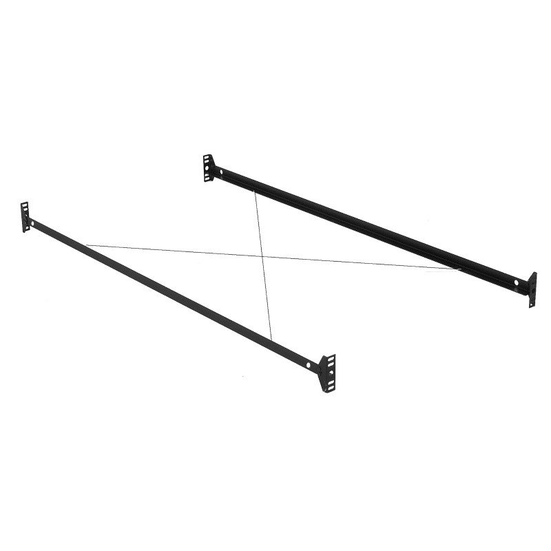 Fashion Bed Group 75-Inch 34B Bed Frame Side Rails with Bolt-On Brackets and Sta-Tite Wires for Headboards and Footboards - Twin/Full