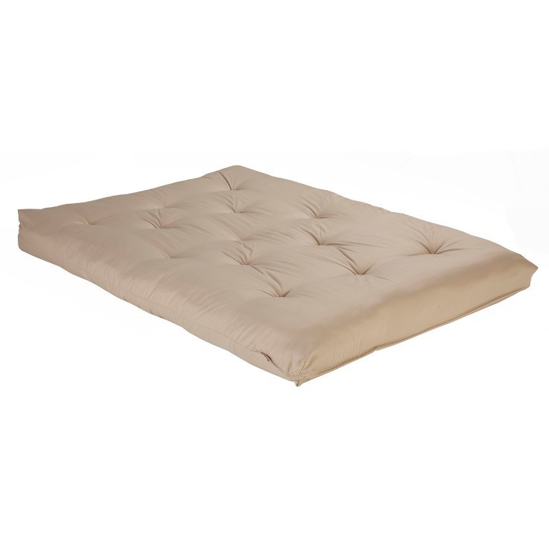 Fashion Bed Group 8-Inch Futon Mattress with Multi-Layer Cotton and Foam Core - Khaki