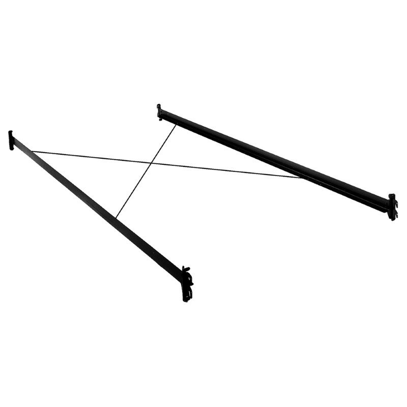 Fashion Bed Group 81-Inch 35H Black Bed Frame Side Rails with Hook-On Brackets and Sta-Tite Wires for Headboards and Footboards - Queen