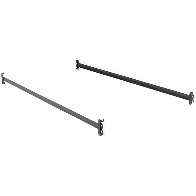 Fashion Bed Group 82-Inch 84H Black Bed Frame Side Rails with Hook-On Brackets for Headboards and Footboards - Queen