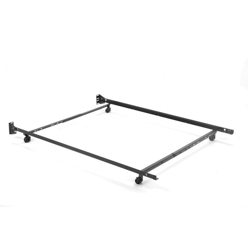 """Fashion Bed Group Adjustable 46R-LP Low Profile Bed Frame with Keyhole Cross Arms and (4) 2"""" Locking Rug Roller Legs - Twin/Full"""