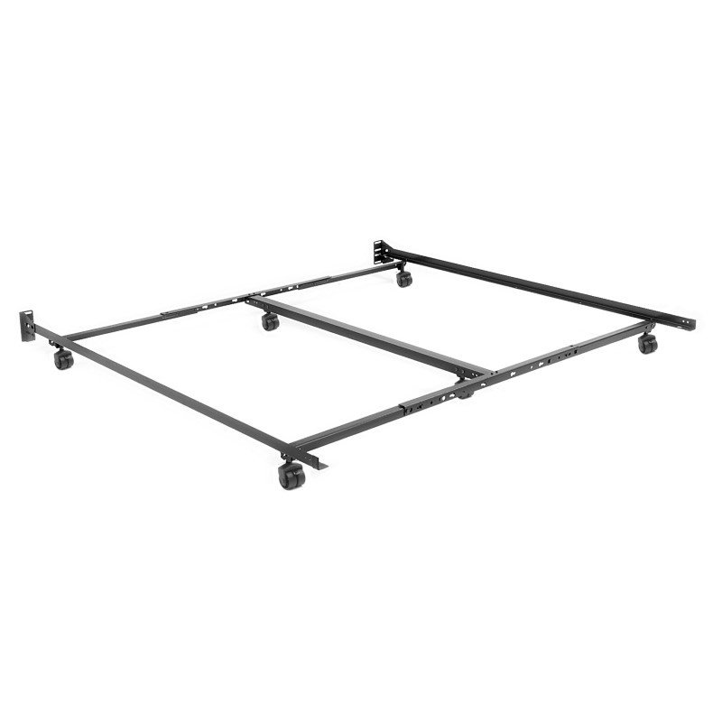 """Fashion Bed Group Adjustable TK46R-LP Low Profile Bed Frame with Keyhole Cross Arms and (6) 2"""" Locking Rug Roller Legs - Twin - Cal King"""
