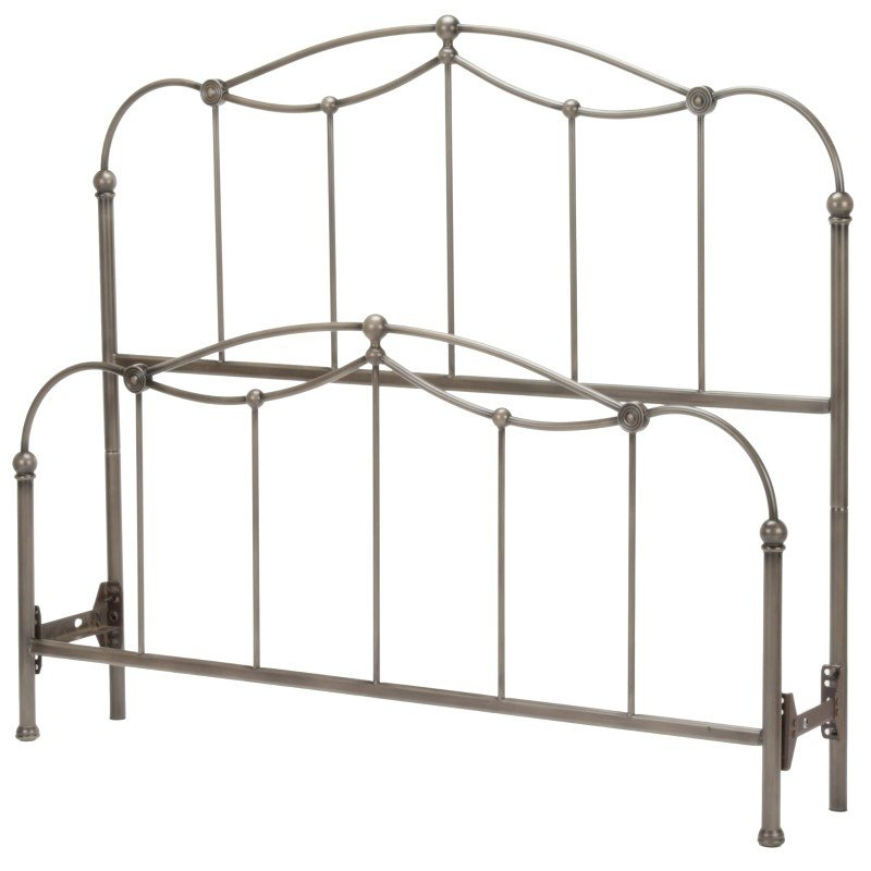 Fashion Bed Group Affinity Bed with Metal Spindle Panels and Detailed Castings - Blackened Taupe Finish - Queen